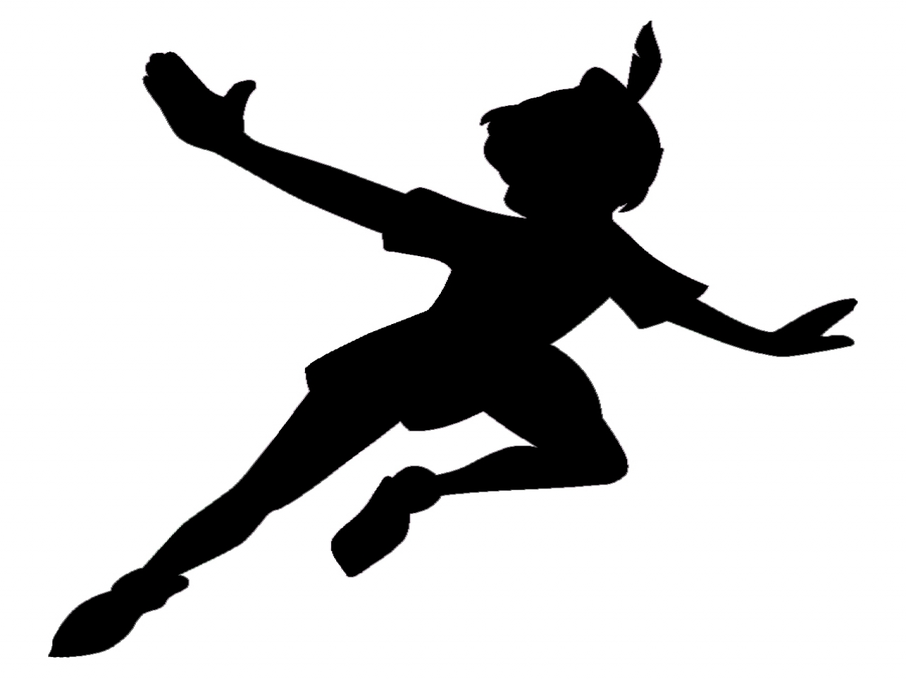 peter pan silhouette peter pan and wendy silhouette svg cricut scanncut pan peter silhouette
