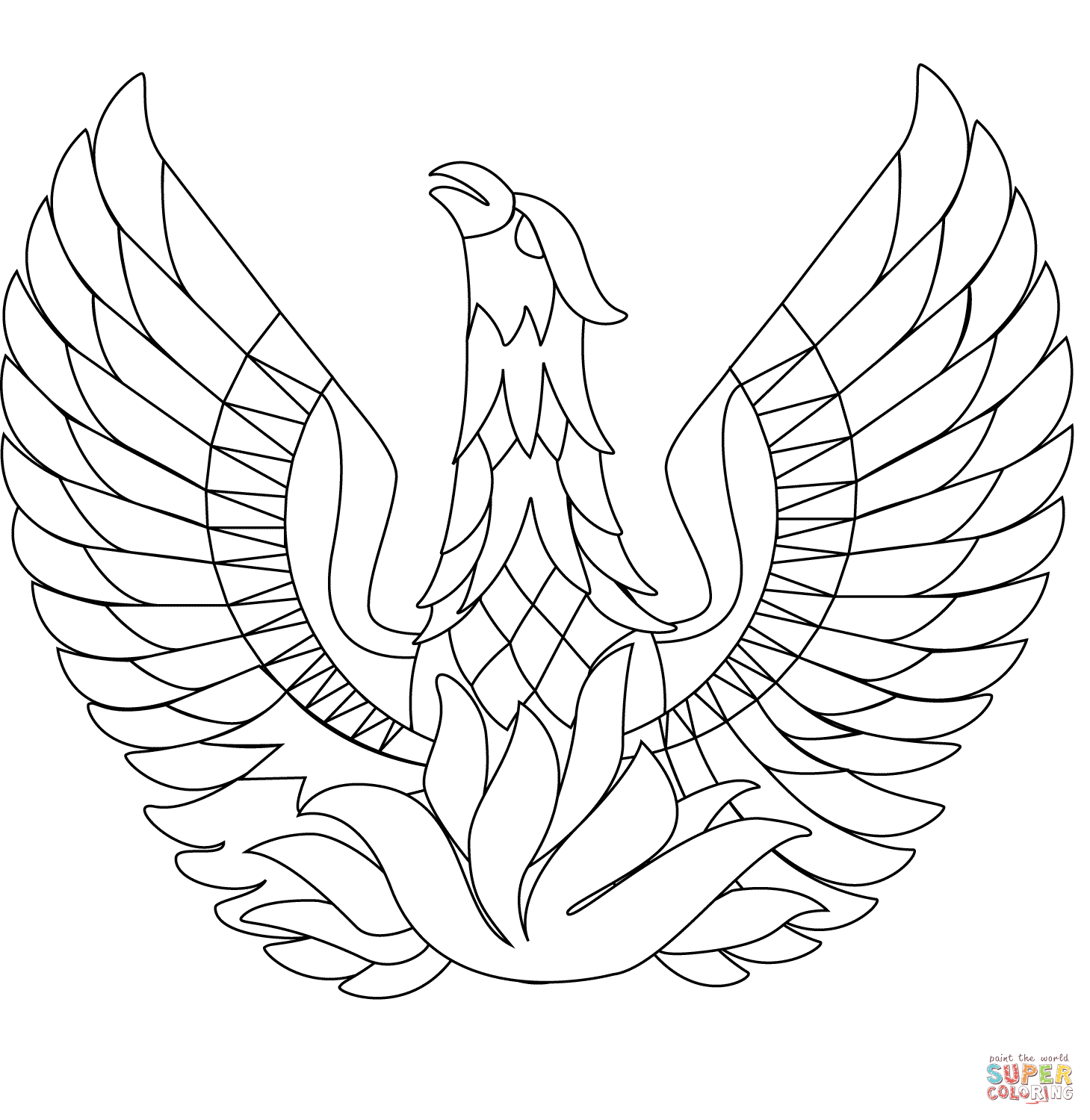 phoenix coloring pages phoenix tattoo coloring pages sketch coloring page pages phoenix coloring