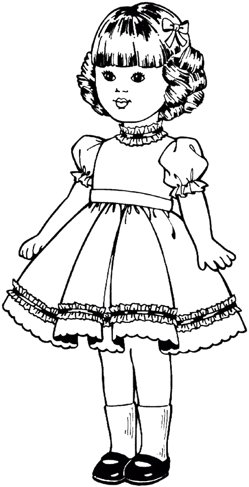 pics to colour dolls coloring pages colour to pics