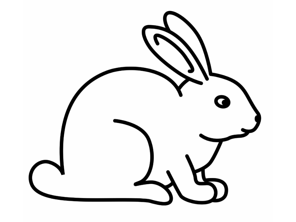 picture of a rabbit to color easter bunny face coloring pages coloring home of rabbit to picture color a