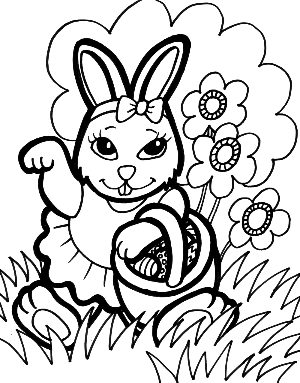 picture of a rabbit to color rabbits and bunnies a lovely rabbit sitting coloring page rabbit picture to a of color