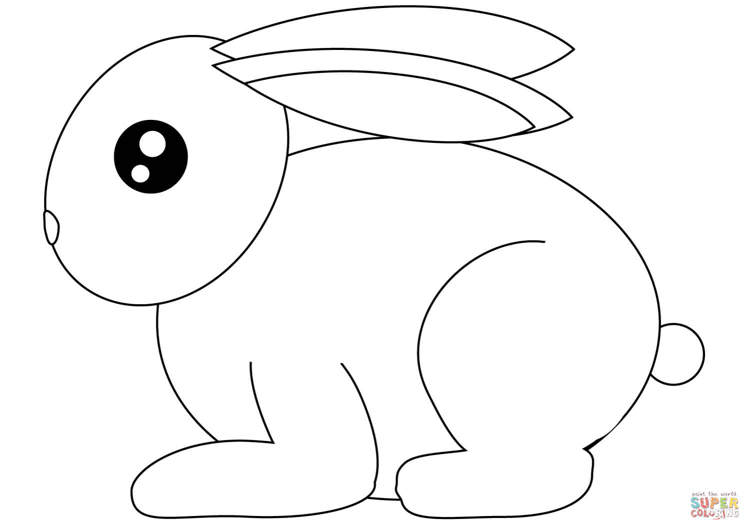 picture of a rabbit to color realistic image of a sweet little bunny coloring page picture to rabbit of a color