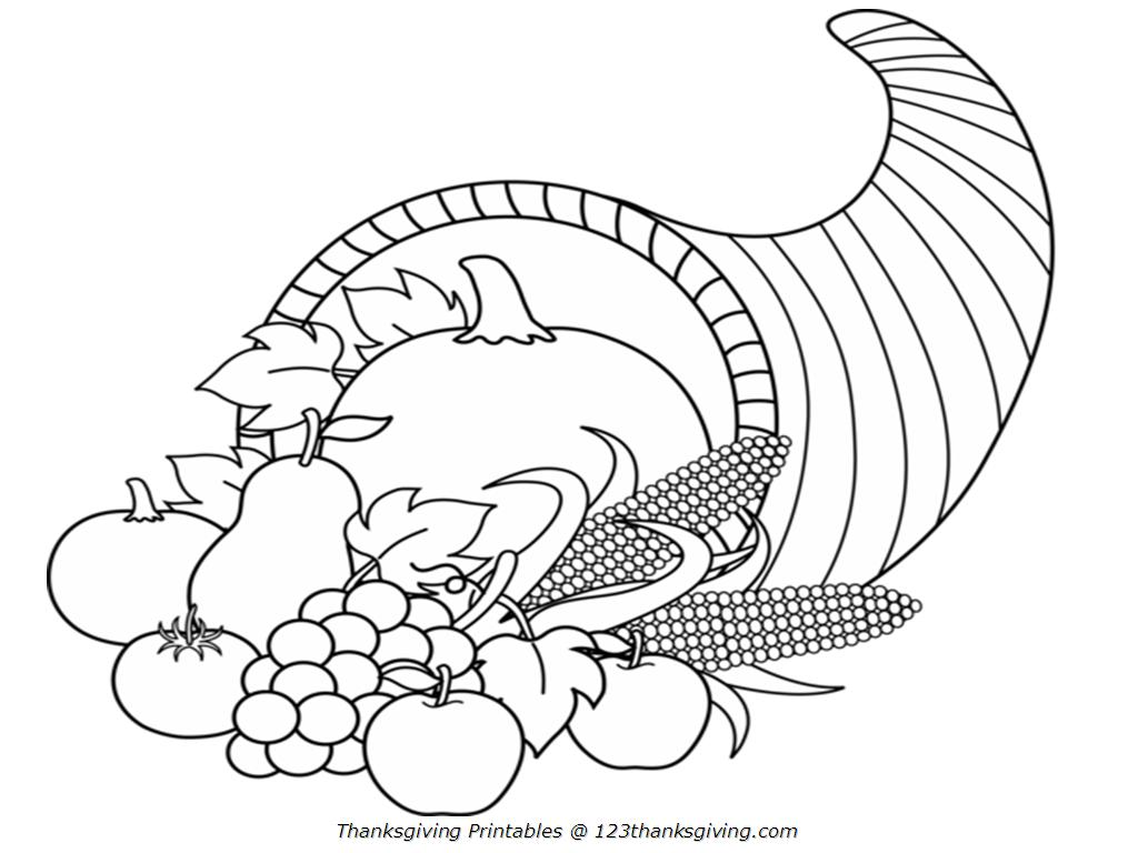 picture of cornucopia to color free printable cornucopia coloring pages at getcolorings color picture of to cornucopia
