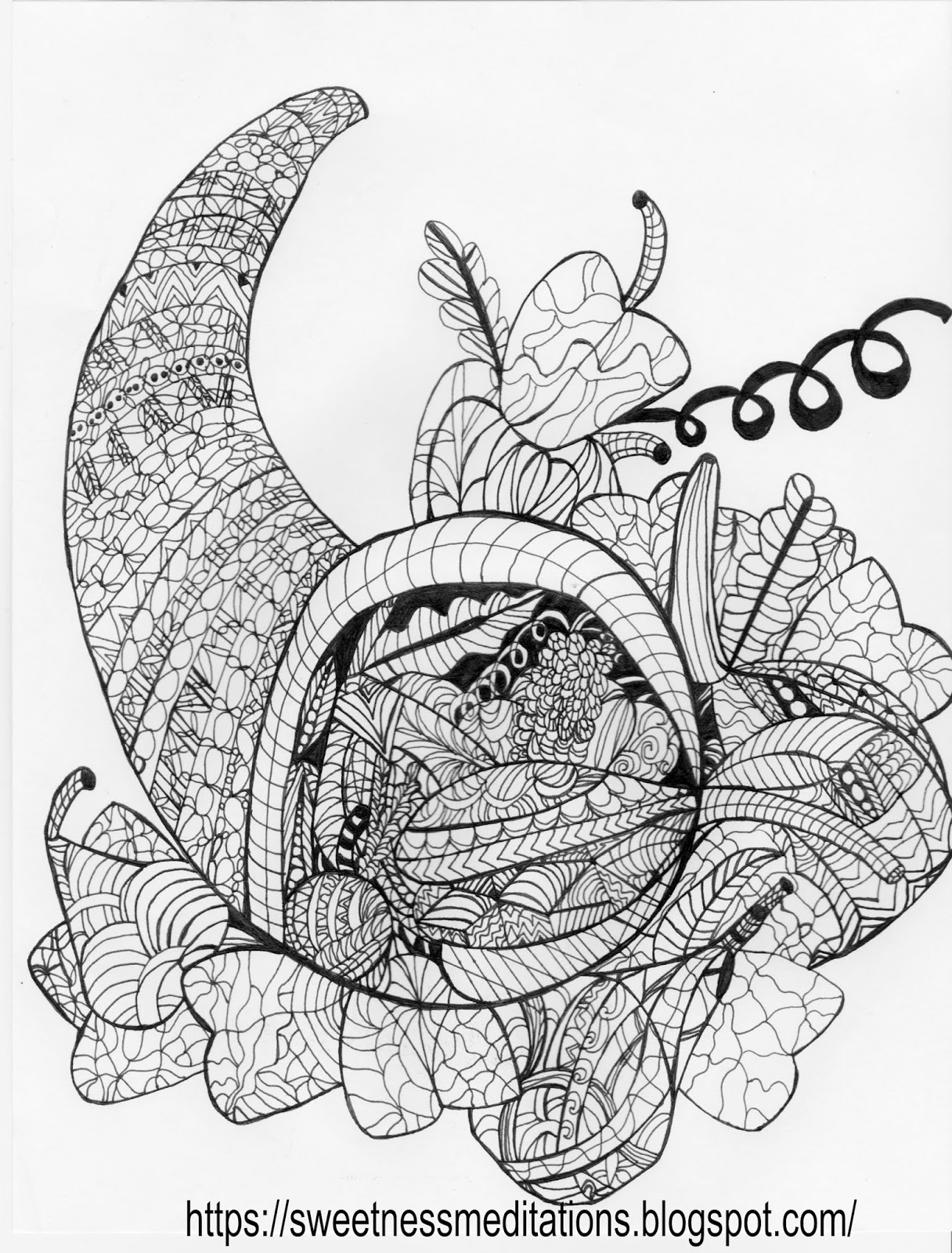 picture of cornucopia to color sweetness meditations thanksgiving coloring pages cornucopia of cornucopia color picture to