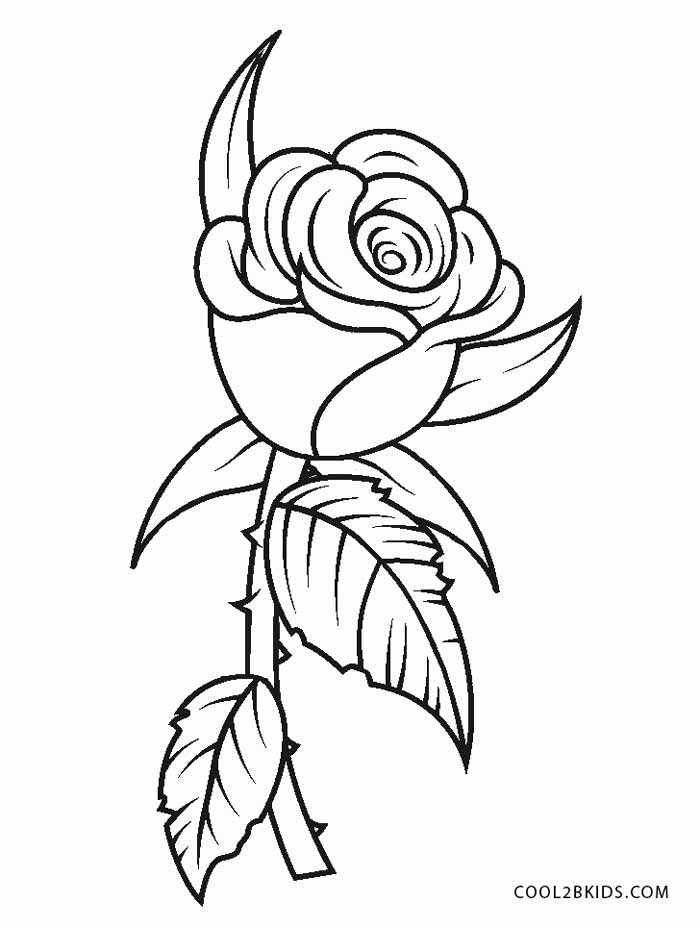 picture of flowers to print single flower coloring pages at getcoloringscom free picture to flowers of print