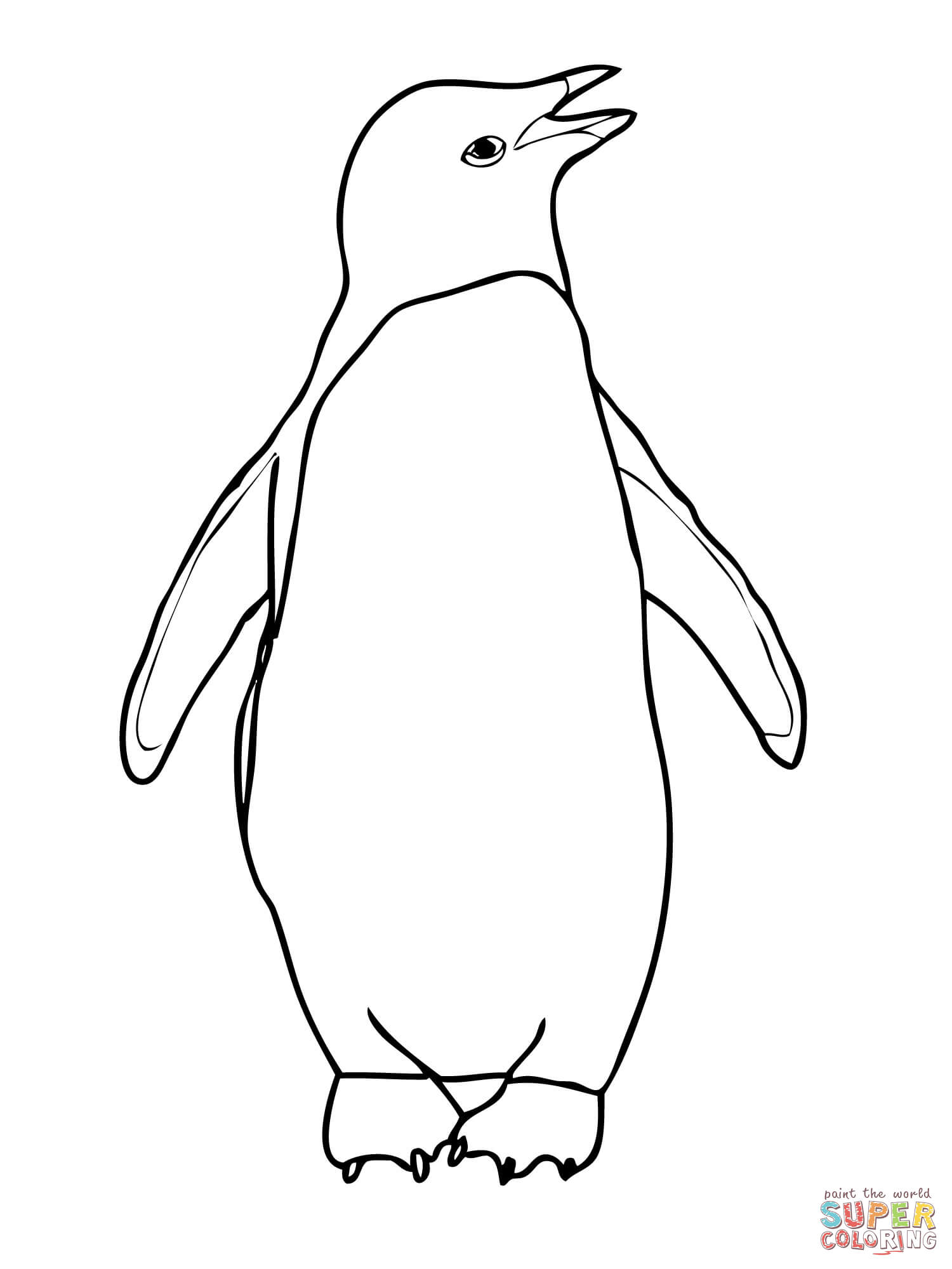 picture of penguin to color emperor penguin coloring pages coloring home of color penguin to picture