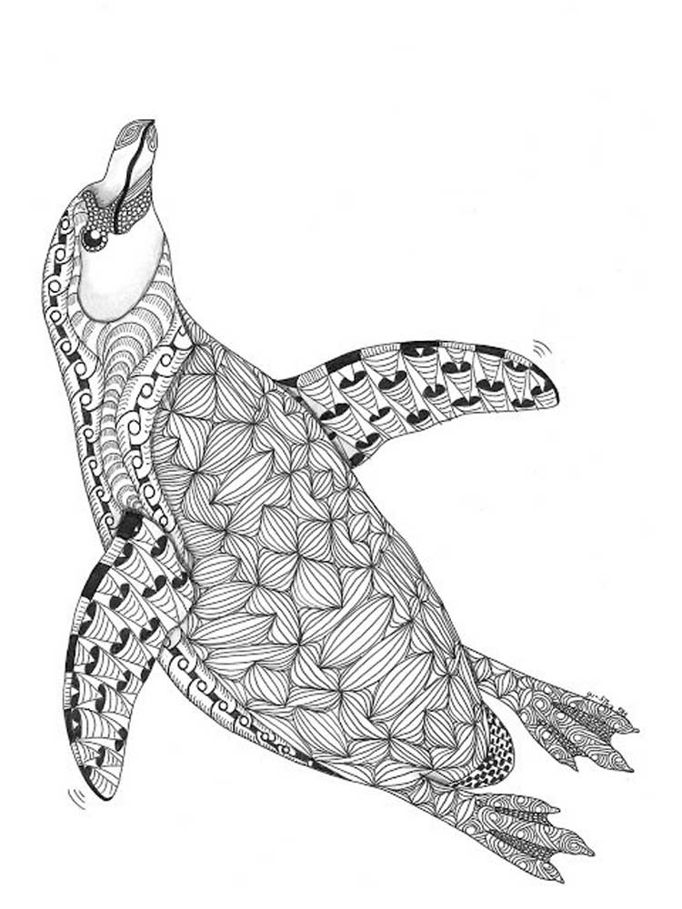 picture of penguin to color free penguin coloring pages for adults printable to of picture penguin to color