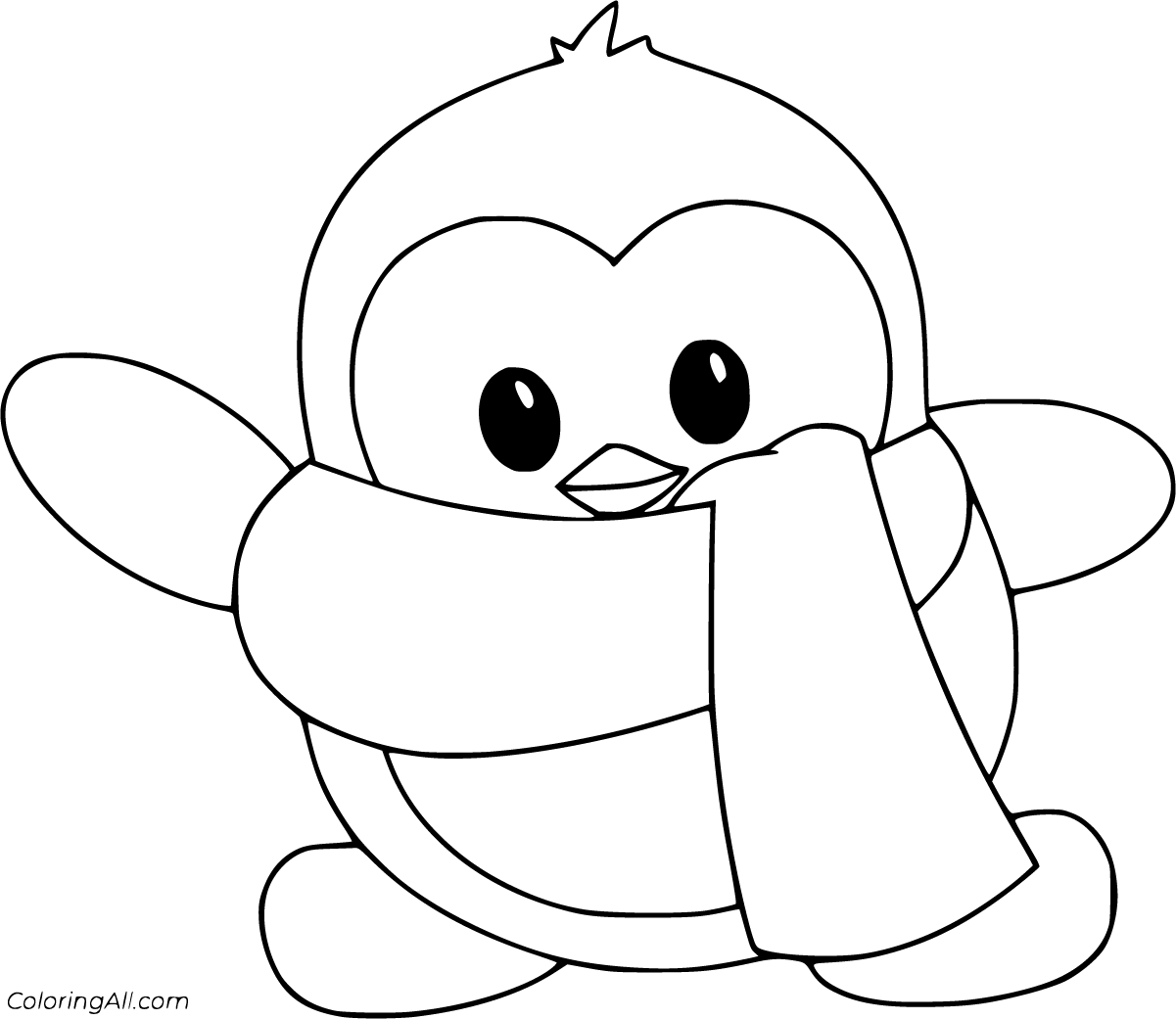 picture of penguin to color penguin coloring pages coloringall color picture penguin of to