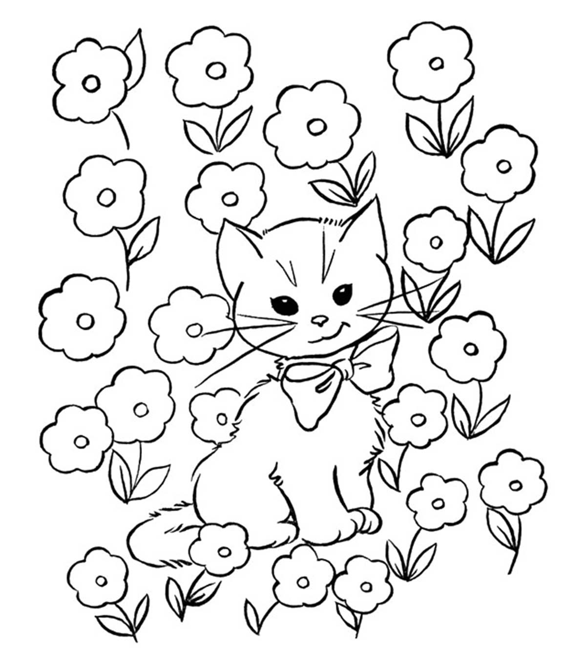 pictures of cats and kittens to color animal coloring pages and of pictures cats kittens to color