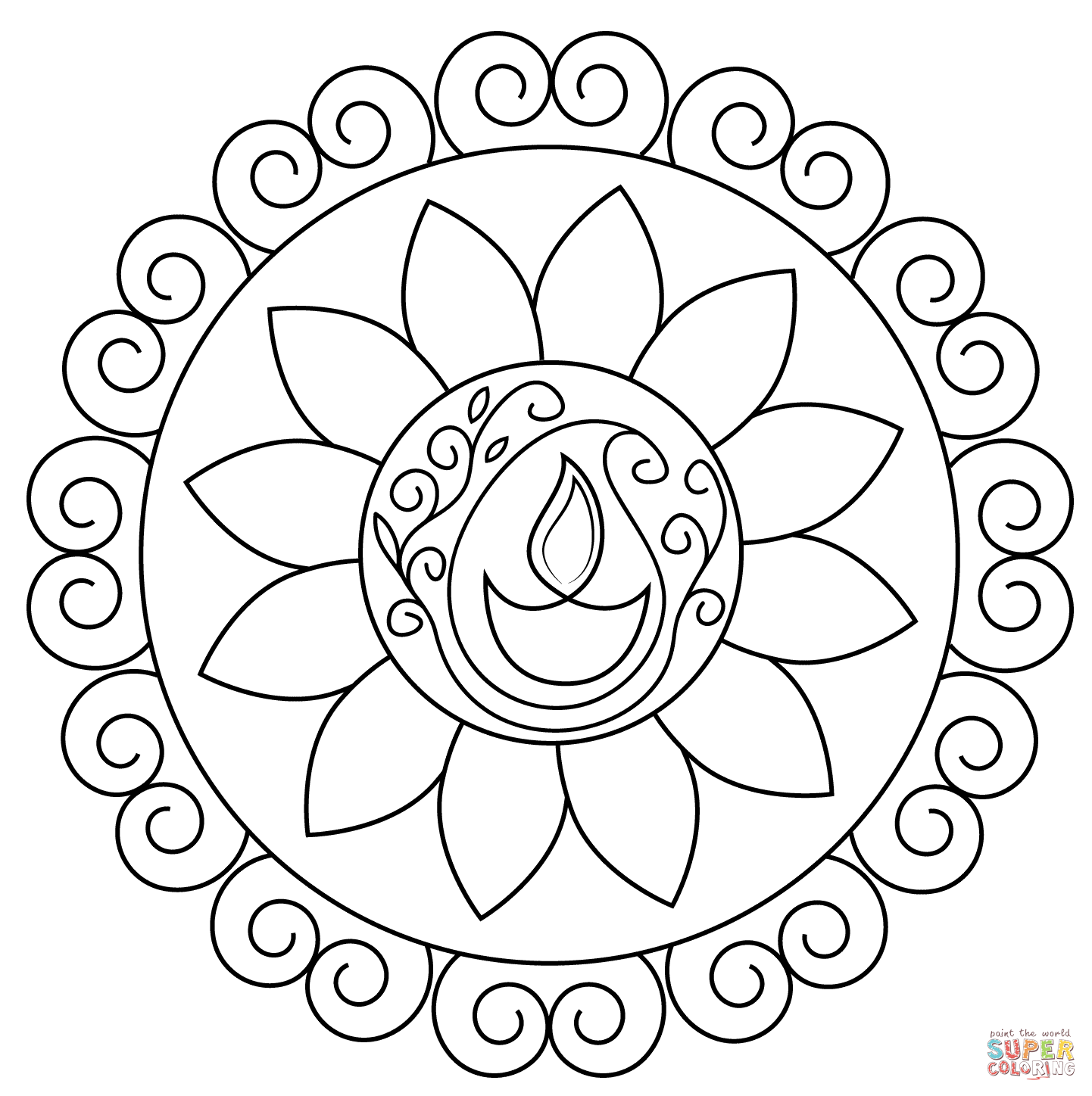 pictures of diwali for colouring cartoon of diwali festival coloring page netart diwali colouring pictures for of