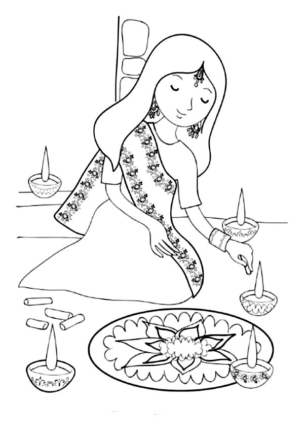 pictures of diwali for colouring diwali coloring pages 05 diwali drawing diwali for of colouring pictures
