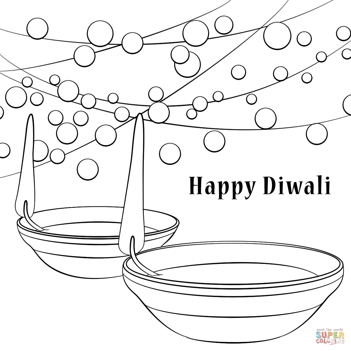 pictures of diwali for colouring diwali coloring pages free large images diwali colouring for pictures of