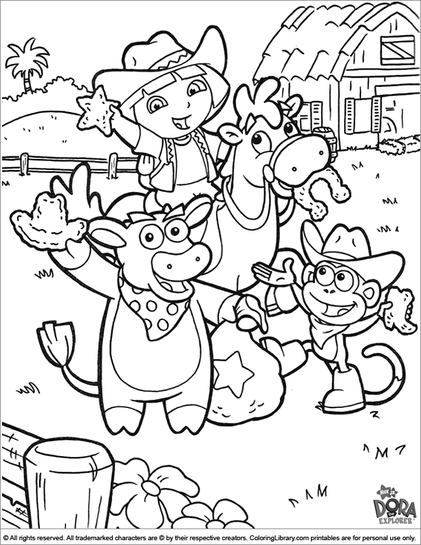 pictures of dora to color dora and boots coloring pages to download and print for free color to pictures dora of