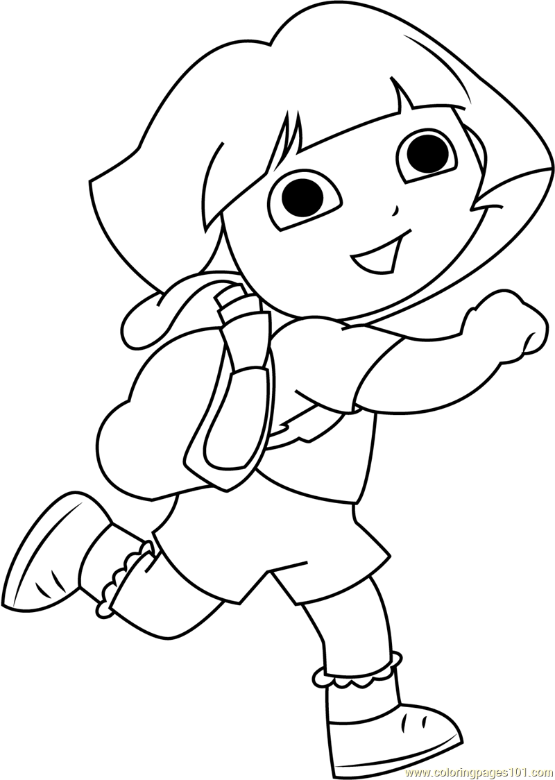pictures of dora to color dora coloring pages cutecoloringcom dora pictures of to color