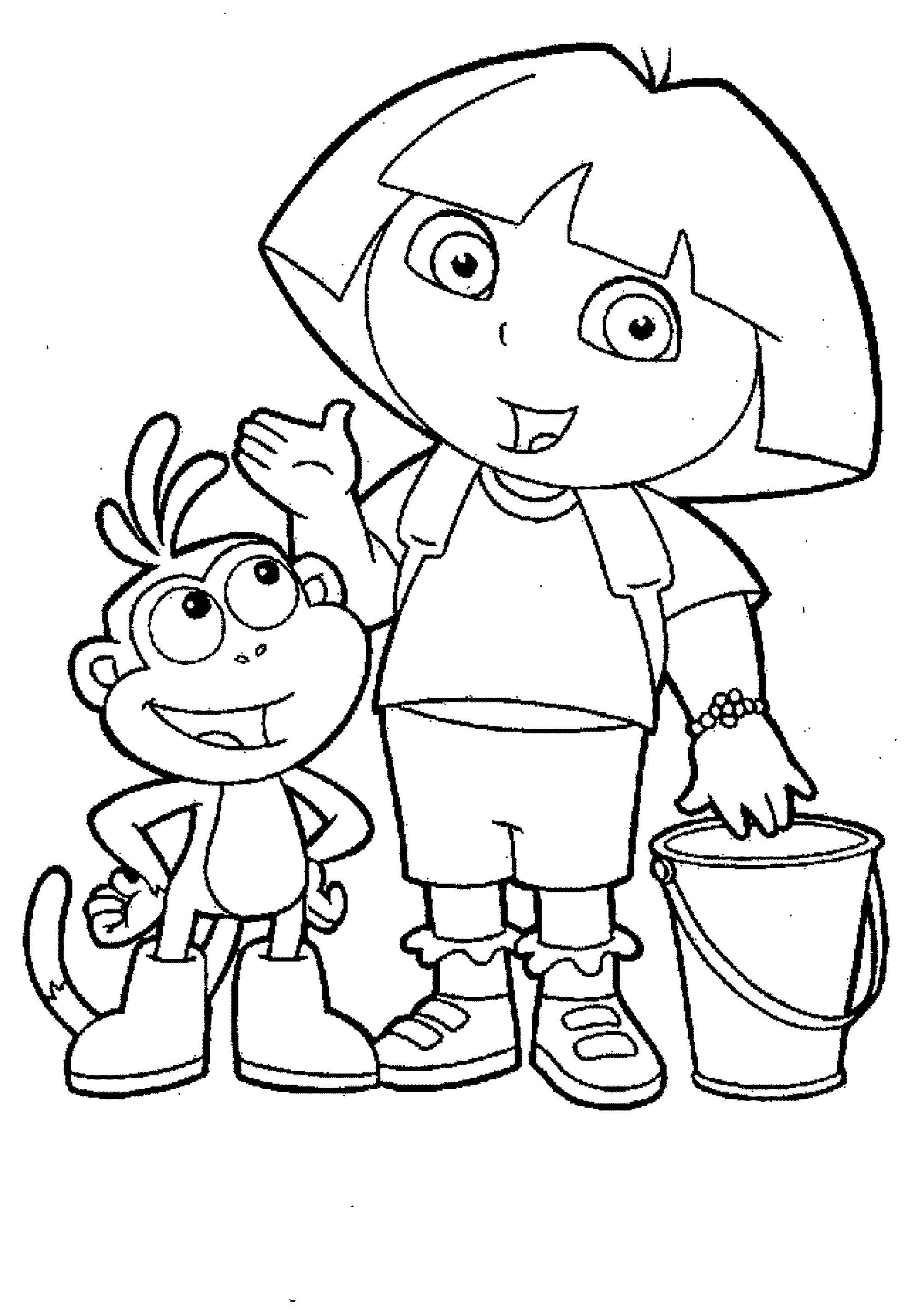 pictures of dora to color dora coloring pages cutecoloringcom of to color pictures dora