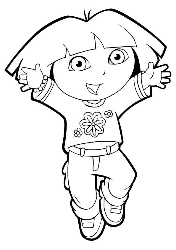 pictures of dora to color dora coloring pages to pictures dora color of