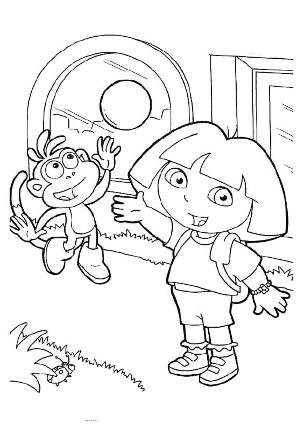 pictures of dora to color dora colouring pictures 2 coloring pages to print to pictures of color dora
