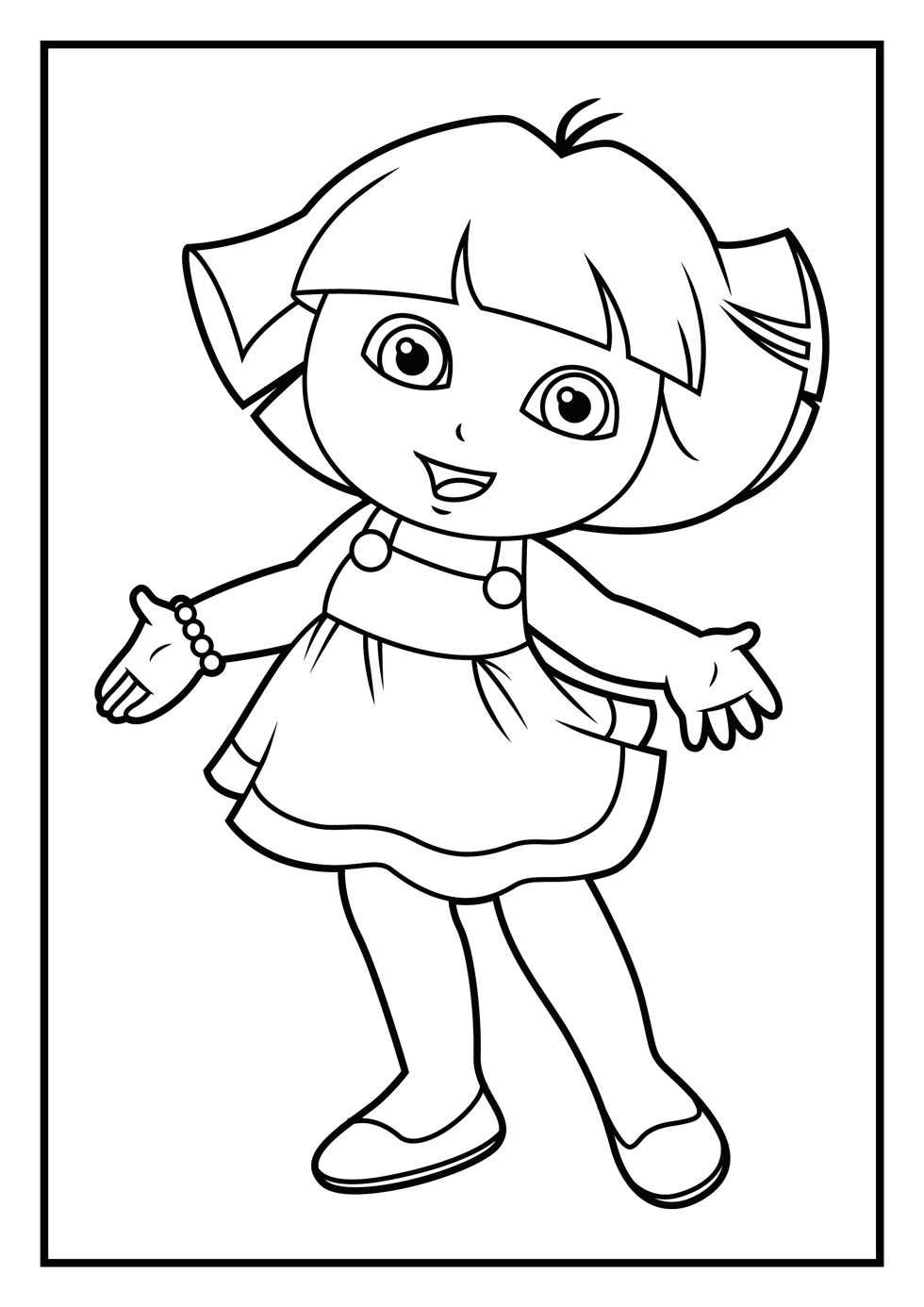 pictures of dora to color dora the explorer coloring page online coloring library pictures color to dora of