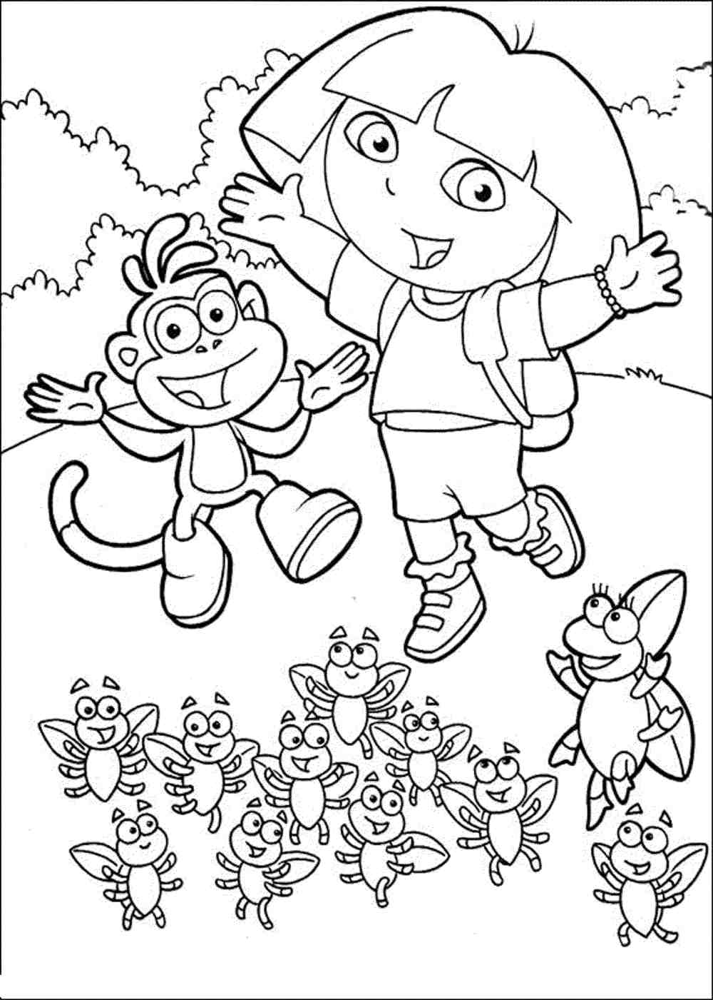 pictures of dora to color dora the explorer coloring pages color of pictures to dora