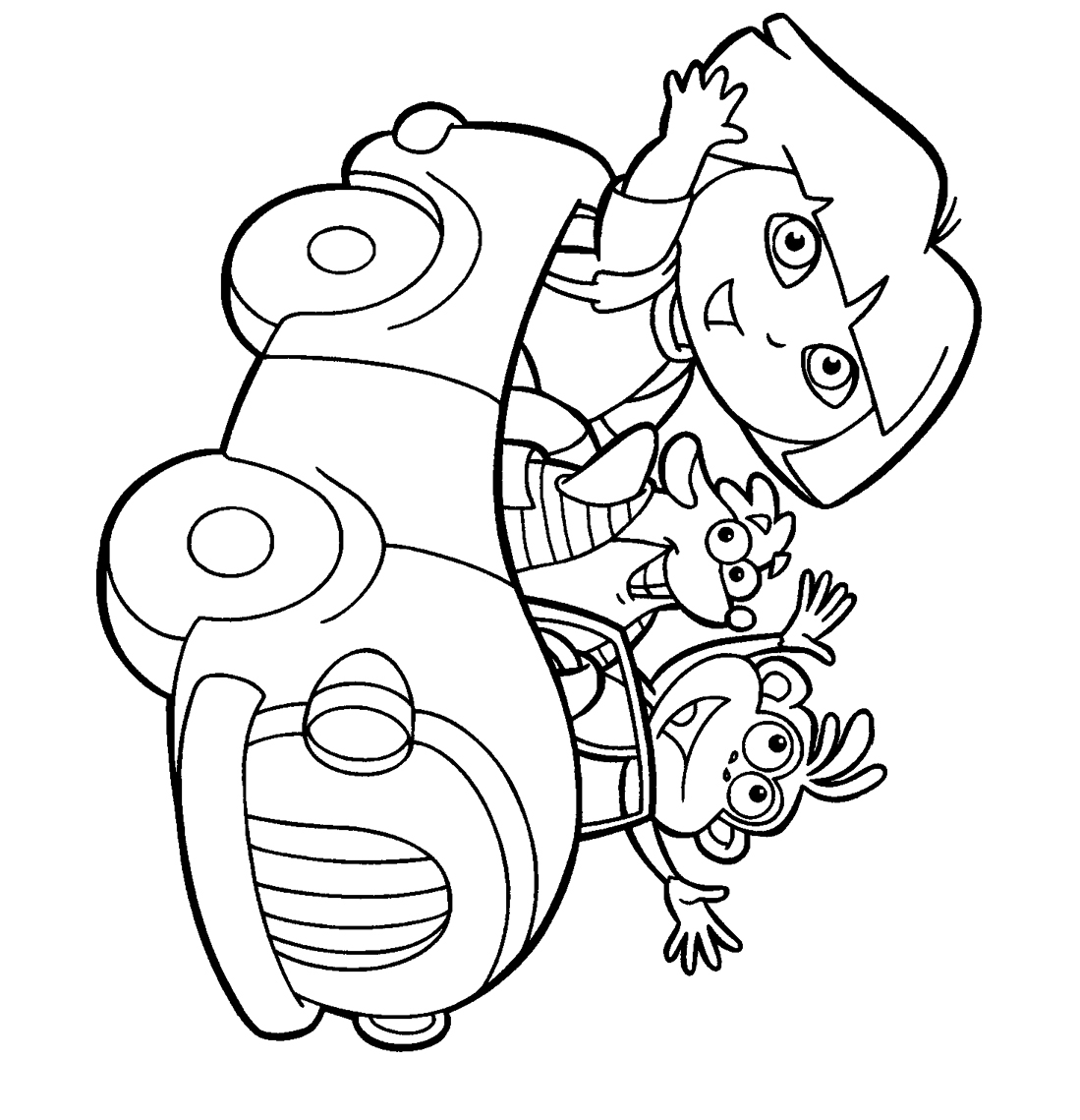pictures of dora to color joe blog dora the explorer coloring pages to print pictures dora color of to