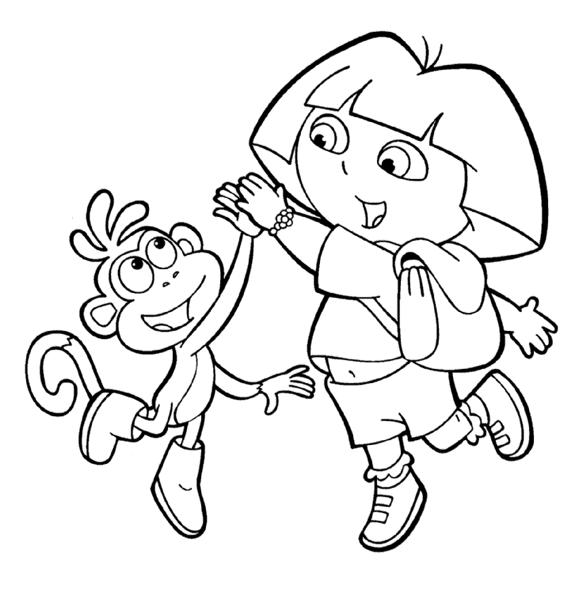 pictures of dora to color print download dora coloring pages to learn new things pictures dora to color of