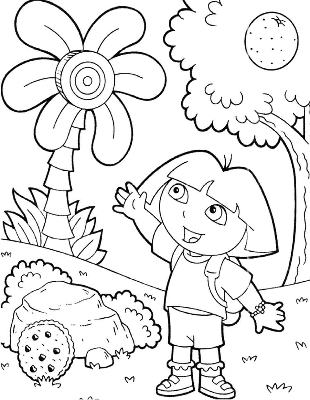 pictures of dora to color print download dora coloring pages to learn new things to color pictures of dora