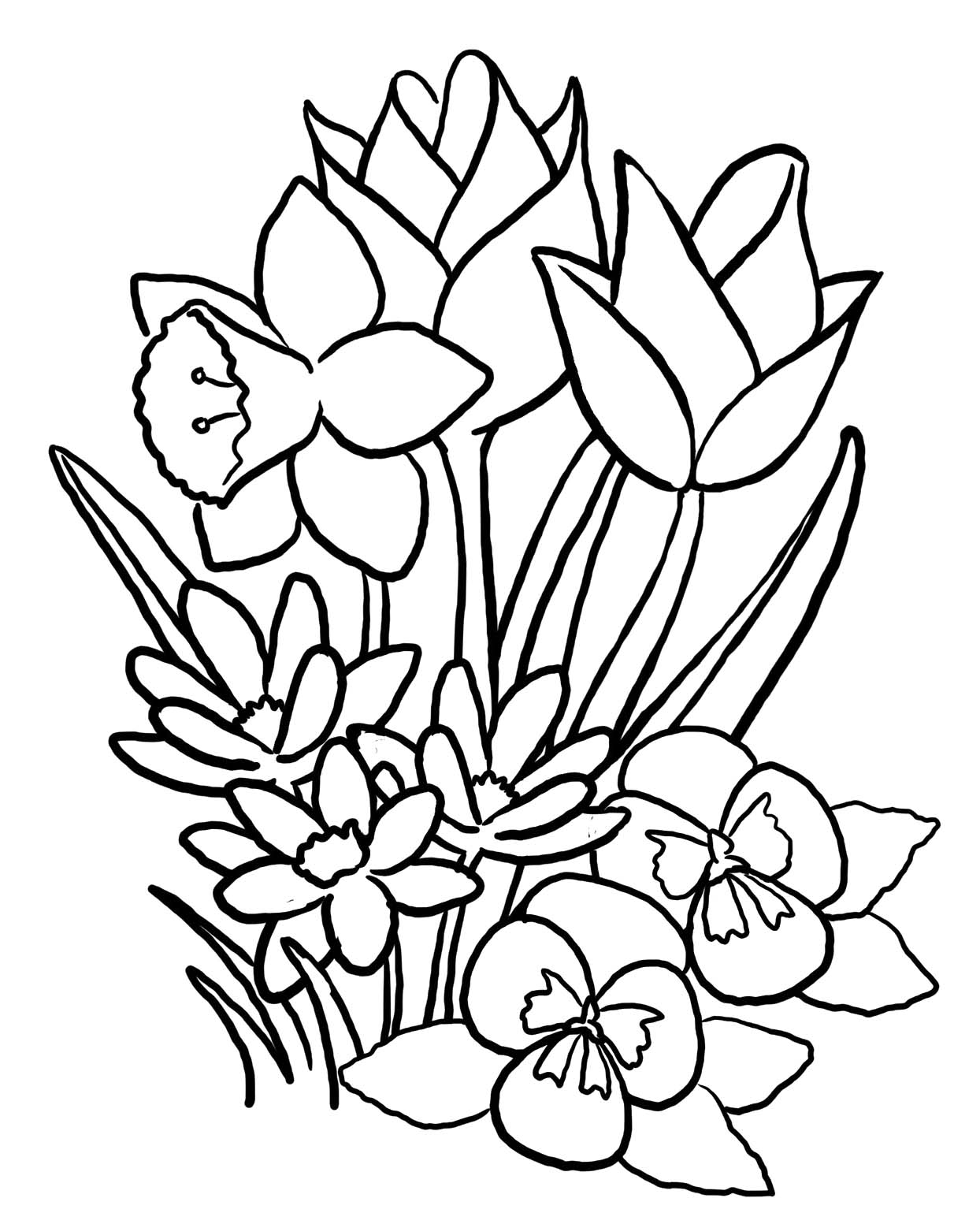 pictures of flowers to color free printables free printable flower coloring pages for kids best printables to of flowers pictures color free