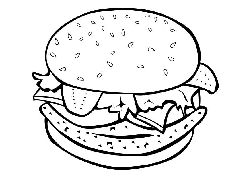 pictures of food coloring best hamburger junk food burger coloring pages for kids of pictures food coloring