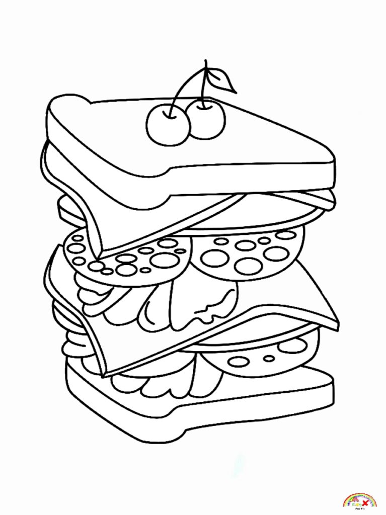 pictures of food coloring free download sandwich food coloring pages blogxinfo coloring of food pictures