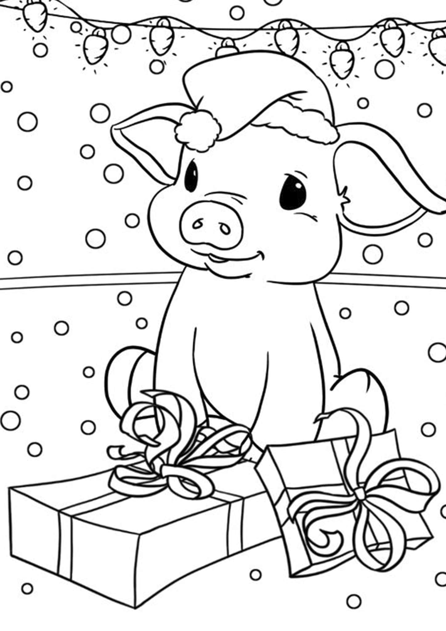 Pictures of pigs to color