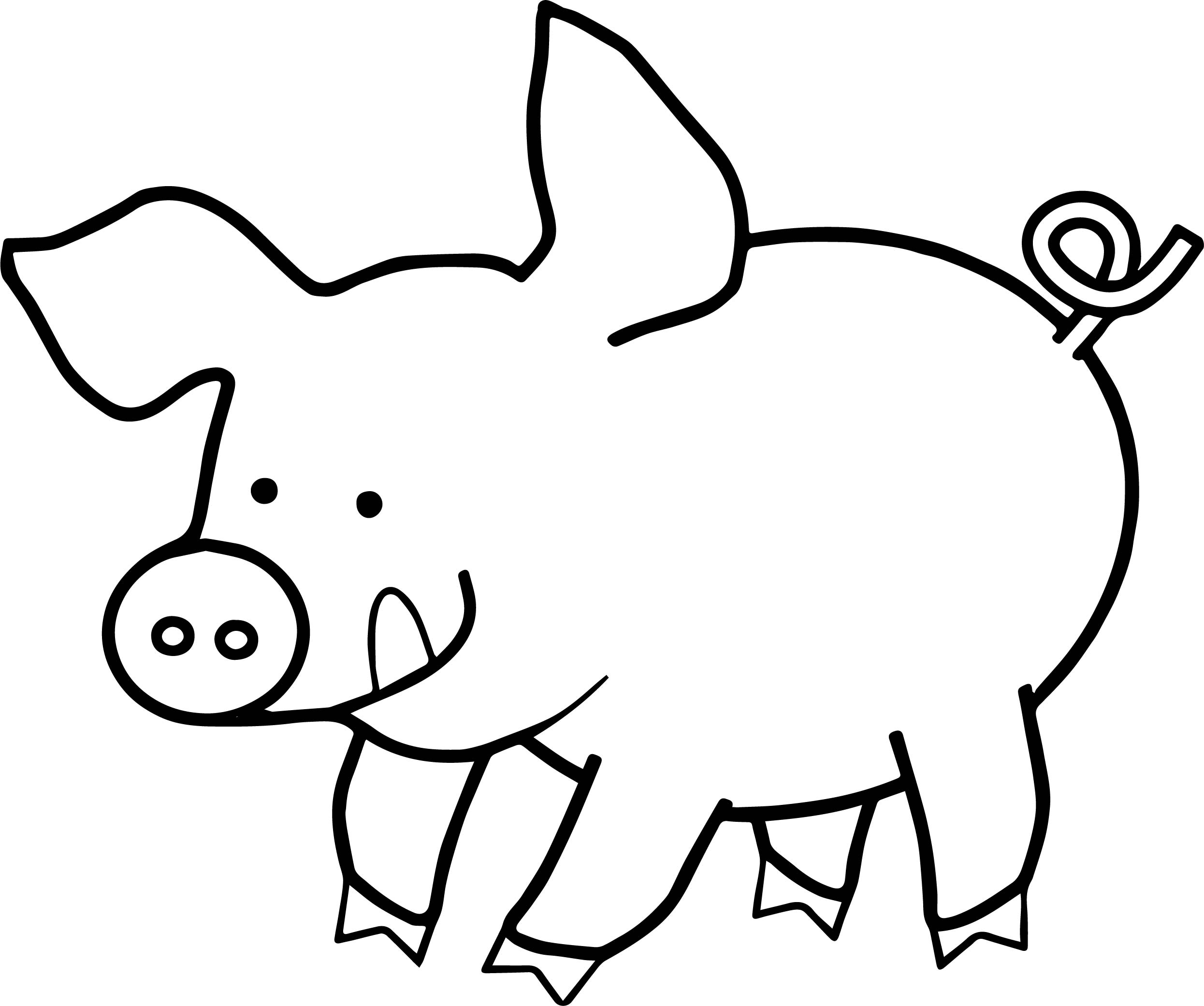 pictures of pigs to color pig coloring pages for adults at getcoloringscom free pigs of pictures color to