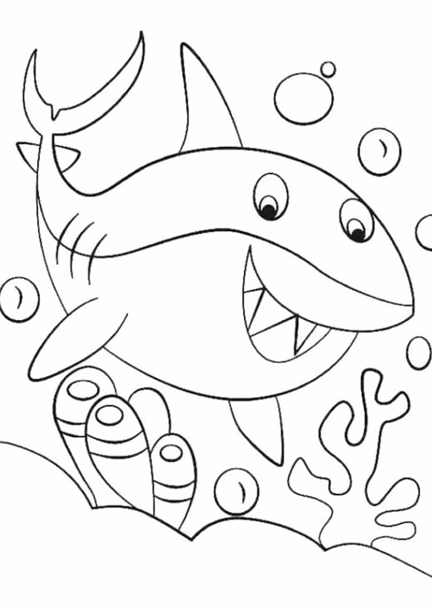 pictures of sharks to colour in free easy to print shark coloring pages tulamama pictures to sharks of in colour