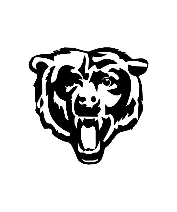 pictures of the chicago bears logo 2 pack chicago bears head bears c or bears b decal by the logo pictures bears chicago of