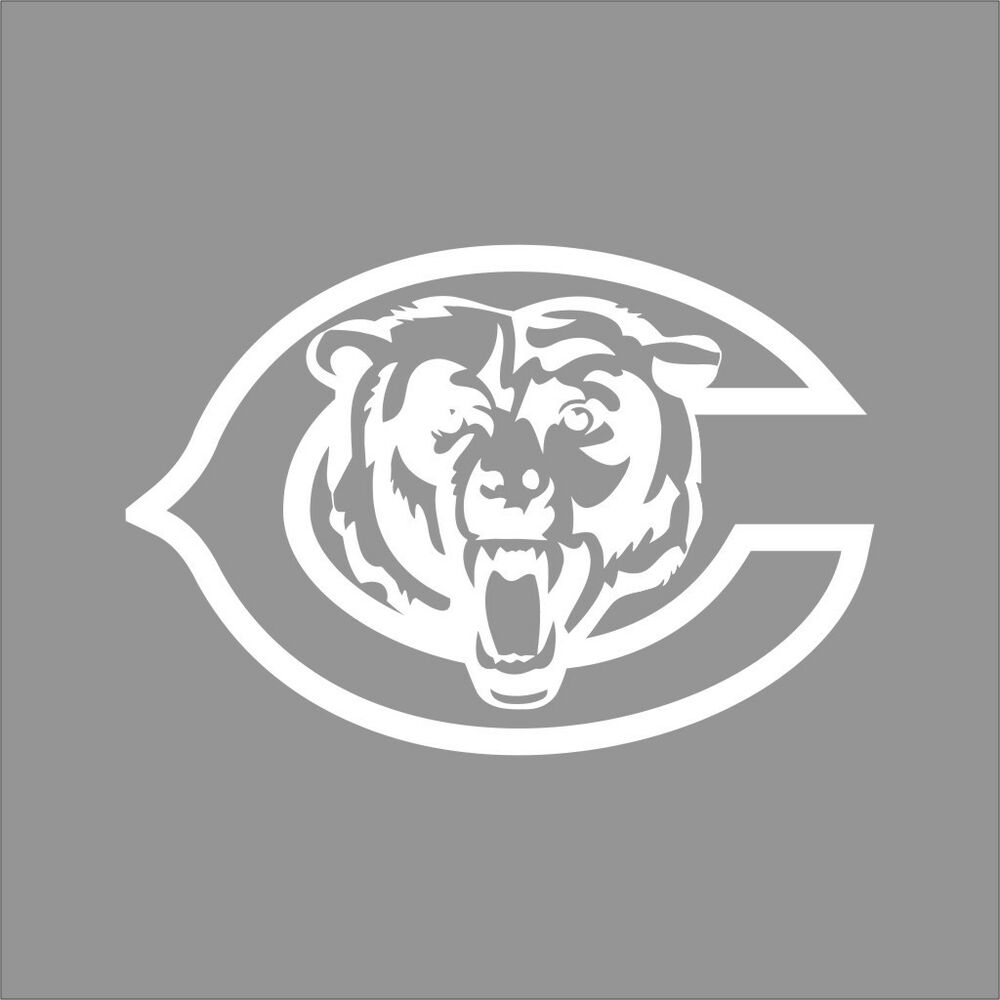 pictures of the chicago bears logo chicago bears 4 nfl team logo 1 color vinyl decal sticker pictures of bears chicago the logo