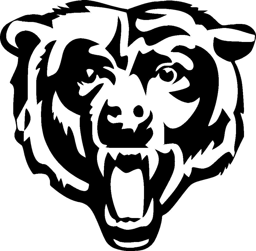 pictures of the chicago bears logo chicago bears 8x8 white logo decal bears pictures chicago logo of the