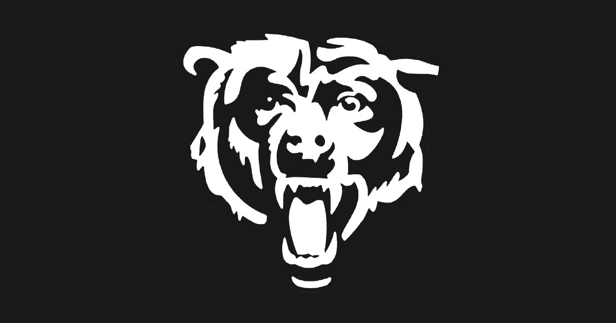 pictures of the chicago bears logo chicago bears white logo chicago sticker teepublic logo the pictures bears chicago of