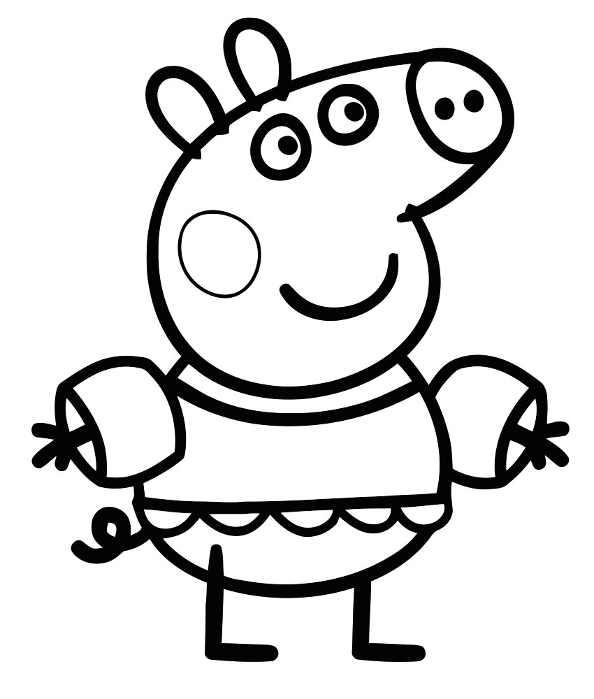 pig pictures to colour peppa pig coloring pages free download on clipartmag pig to colour pictures