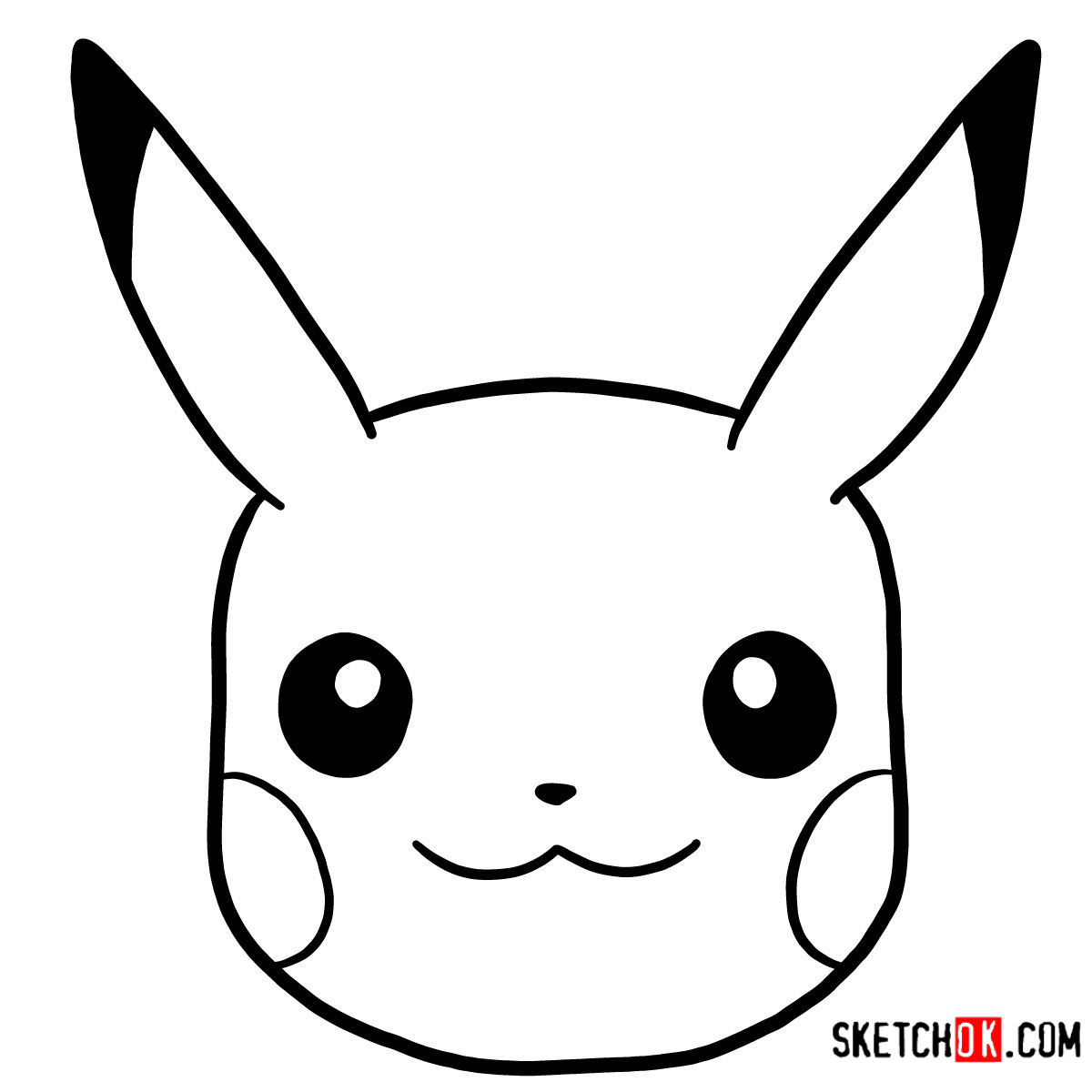 pikachu face coloring page pikachu line drawing at getdrawings free download coloring page face pikachu