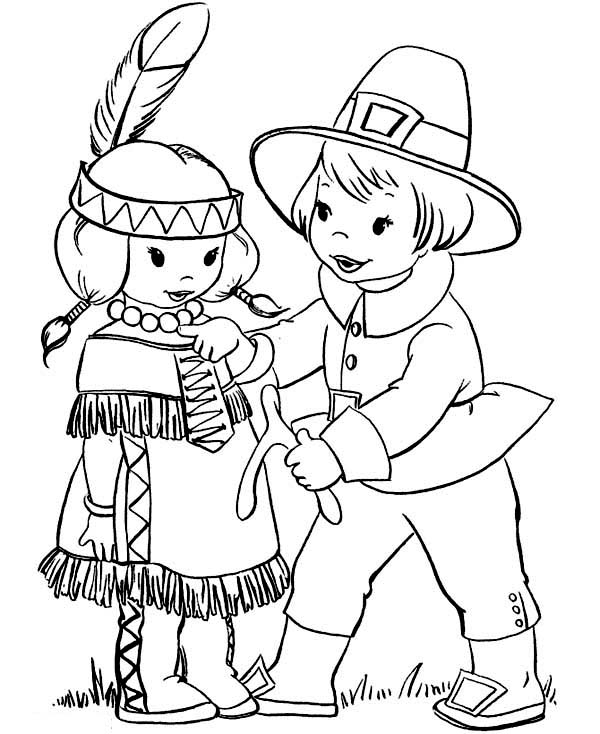 pilgrim boy and girl coloring pages indian boy and girl holding hands for thanksgiving pages and pilgrim coloring girl boy
