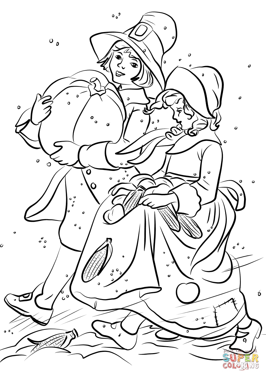 pilgrim boy and girl coloring pages pilgrim boy coloring page coloring home boy girl pilgrim and pages coloring