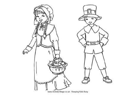 pilgrim boy and girl coloring pages pilgrim children colouring page pages pilgrim girl coloring and boy