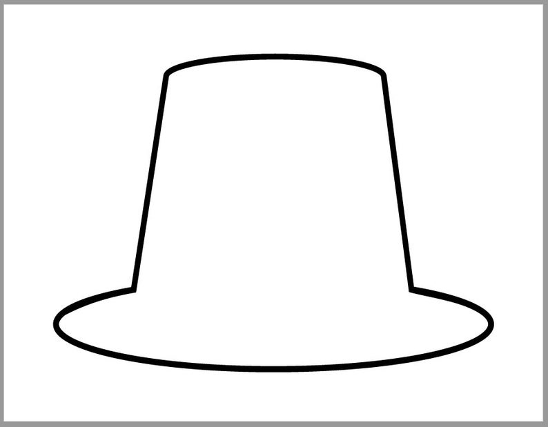 pilgrim hat template pilgrim hats and collars lessons for little ones by tina hat template pilgrim