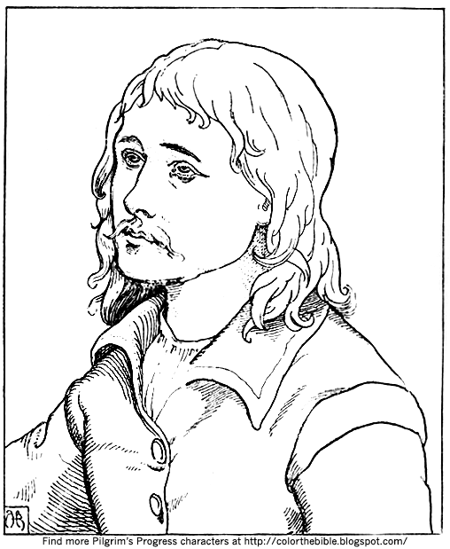 pilgrims progress coloring pages quothe looked not behind him3939 coloring page color the bible pages pilgrims coloring progress
