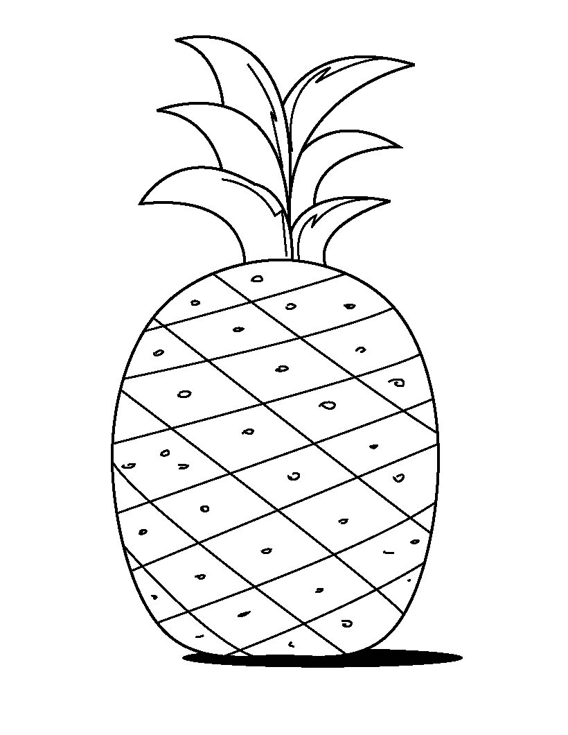 pineapple coloring image pineapple coloring page image pineapple coloring