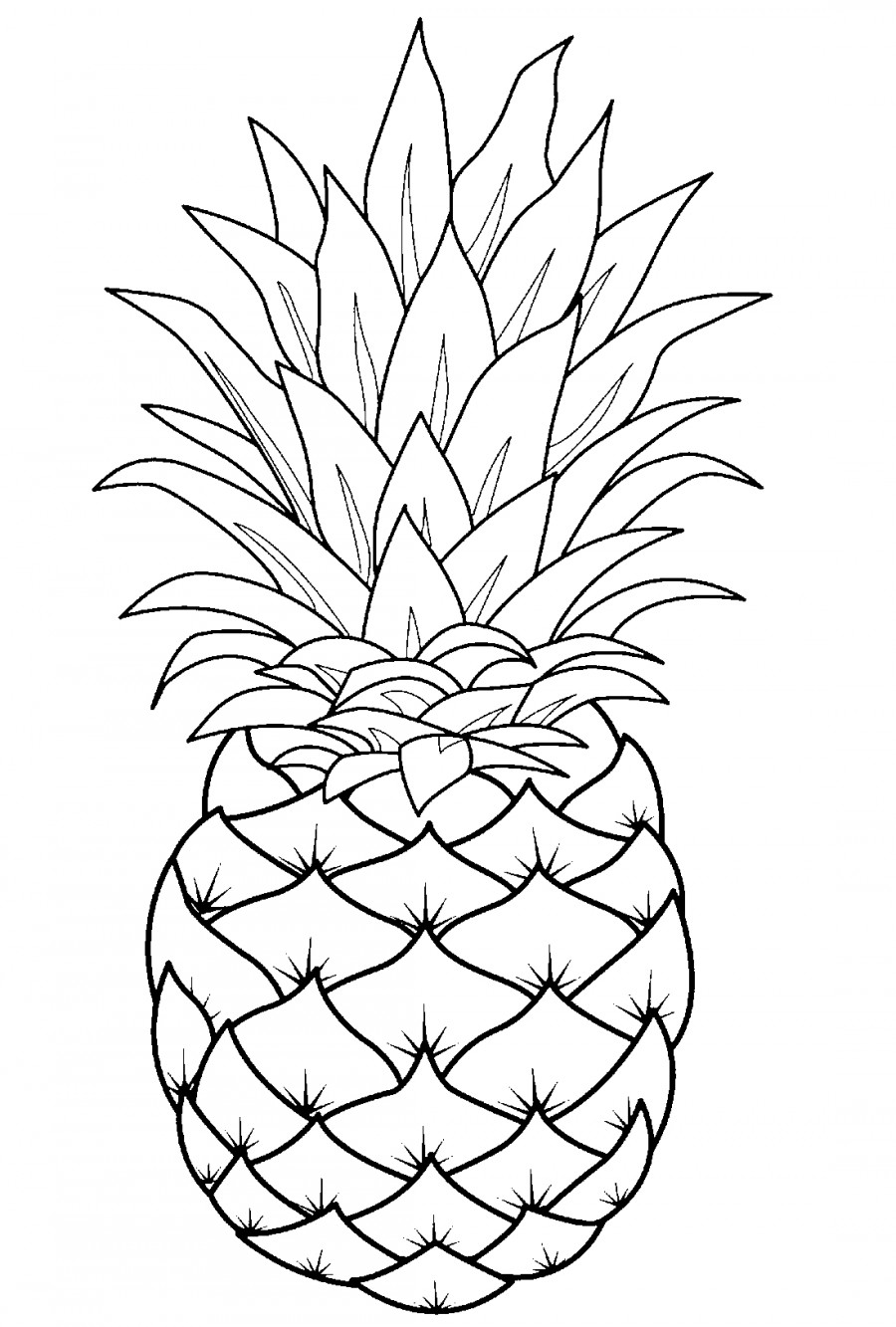pineapple coloring image pineapple coloring pages coloring pages to download and image coloring pineapple