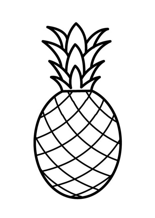 pineapple coloring image pineapple coloring pages for kids coloringfile image pineapple coloring
