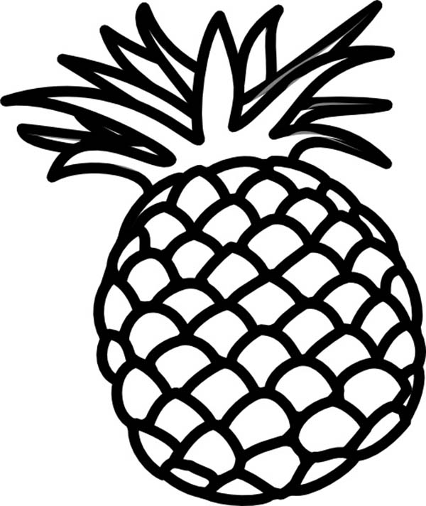 pineapple coloring image smooth cayenne pineapple from hawaii coloring page smooth coloring image pineapple