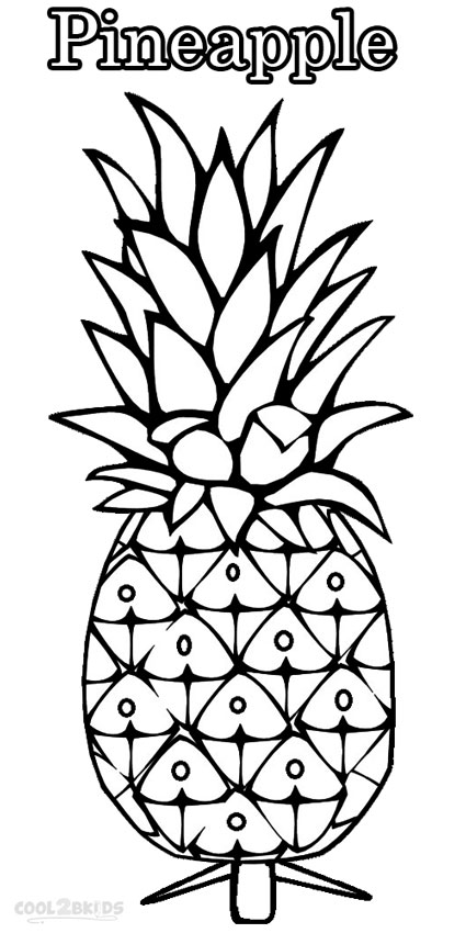 pineapple colouring picture pineapple coloring pages cut coloring pages colouring pineapple picture