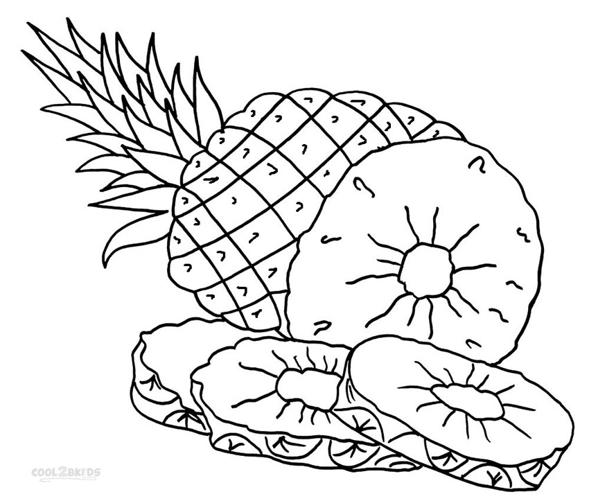 pineapple colouring picture pineapple coloring pages fruit coloring pages coloring pineapple picture colouring