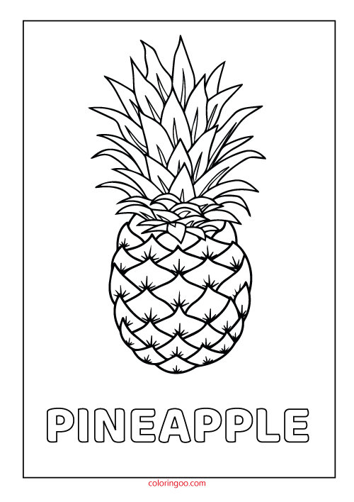 pineapple colouring picture pineapple kiddicolour picture colouring pineapple